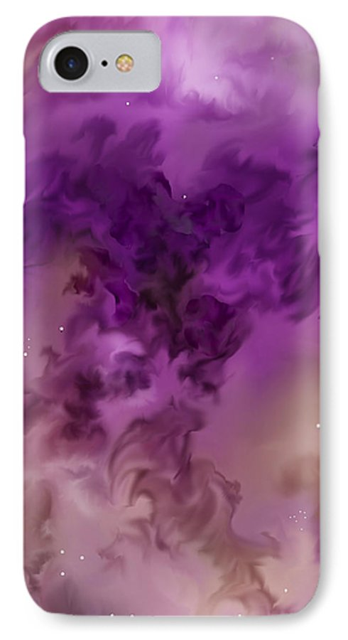 Starscape IPhone 7 Case featuring the painting Eagle Nebula From The Hubble by Anne Norskog