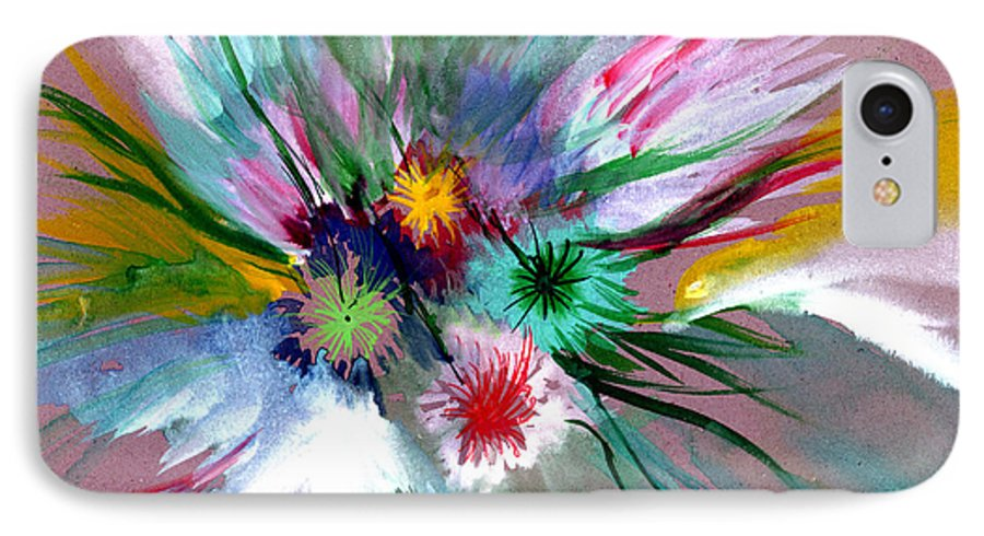 Flowers IPhone 7 Case featuring the painting Flowers by Anil Nene