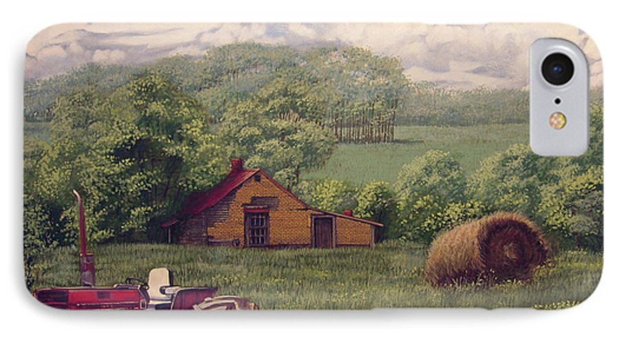 Landscape IPhone 7 Case featuring the painting Idle In Godfrey Georgia by Peter Muzyka