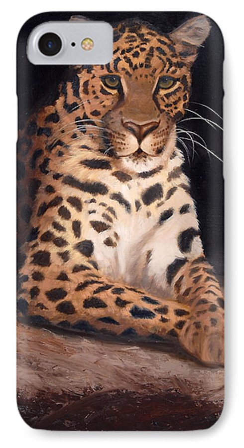 Wildlife IPhone 7 Case featuring the painting Intrigued by Greg Neal