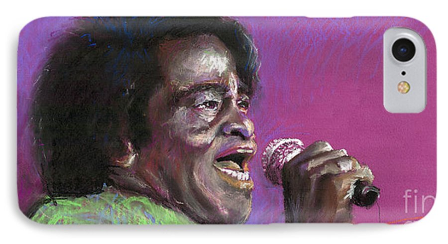 Jazz IPhone 7 Case featuring the painting Jazz. James Brown. by Yuriy Shevchuk