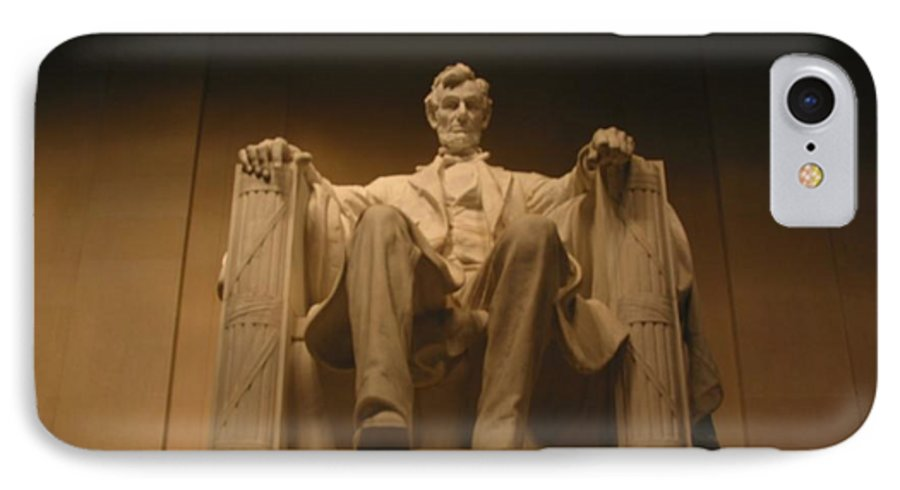 Abraham Lincoln IPhone 7 Case featuring the painting Lincoln Memorial by Brian McDunn
