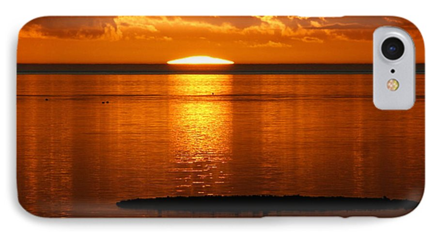 Sunset IPhone 7 Case featuring the photograph Looking For The Green Flash by Debbie May
