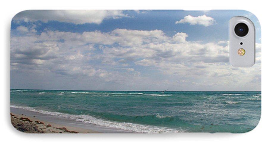 Miami Beach IPhone 7 Case featuring the photograph Miami Beach by Amanda Barcon