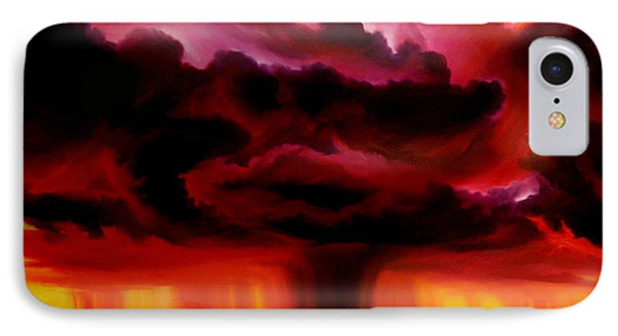Skyscape IPhone 7 Case featuring the painting Microburst by James Christopher Hill