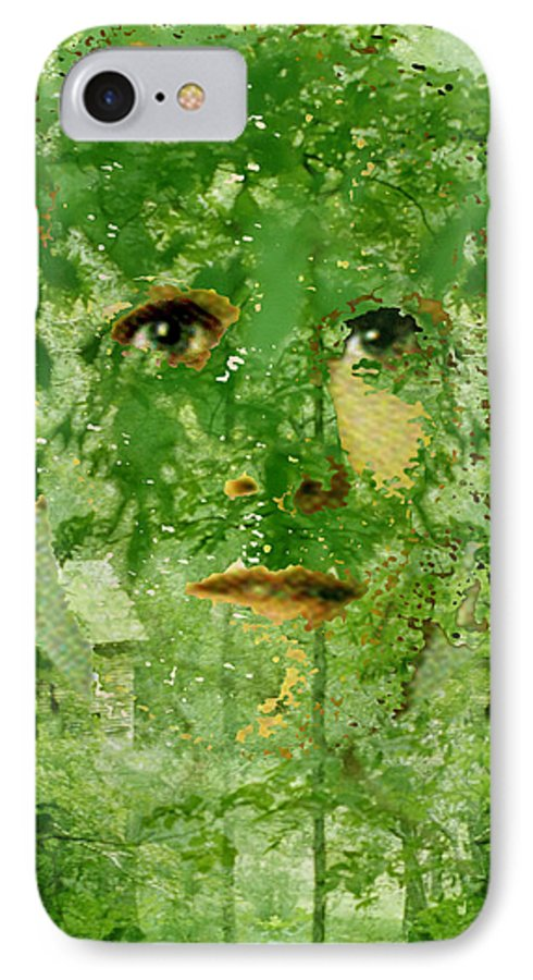 Lady IPhone 7 Case featuring the digital art Mother Nature by Seth Weaver