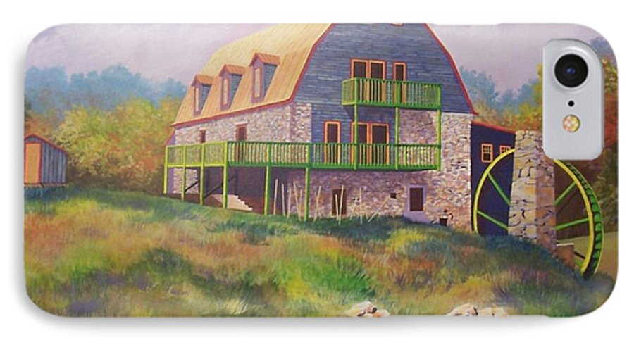 Mill IPhone 7 Case featuring the painting Mountain Mill by Hugh Harris