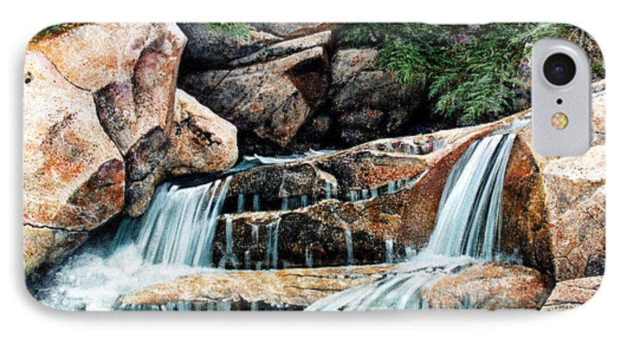 Landscape IPhone 7 Case featuring the painting Mountain Stream by Frank Wilson