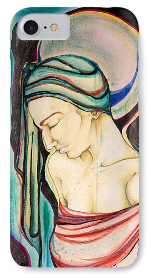 Peace IPhone 7 Case featuring the painting Peace Beneath The City by Sheridan Furrer