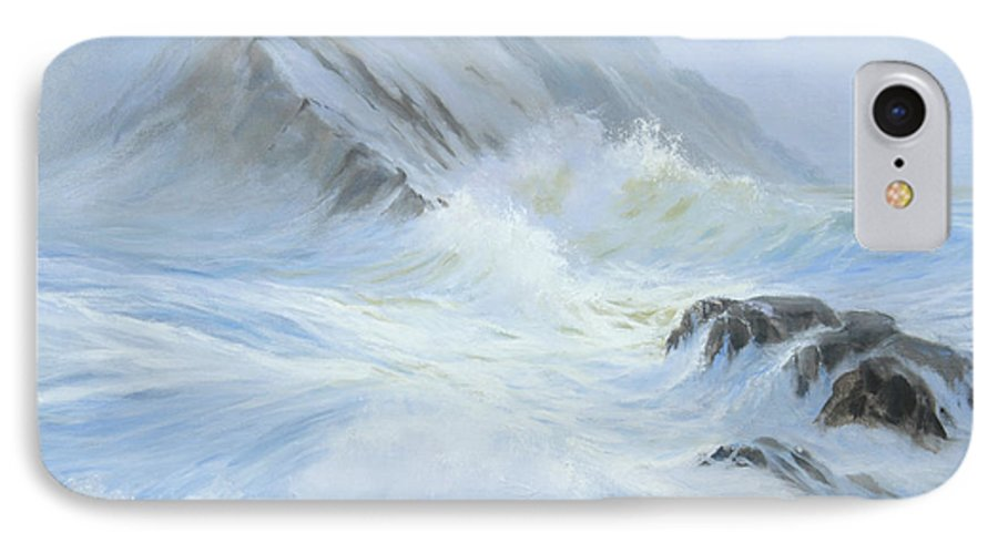 Seascape IPhone 7 Case featuring the painting Quiet Moment II by Glenn Secrest