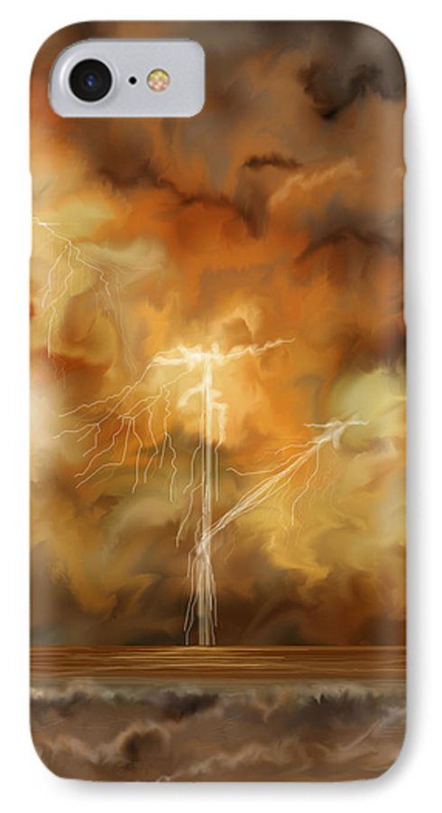 Anne Norskog IPhone 7 Case featuring the painting Raw Power by Anne Norskog