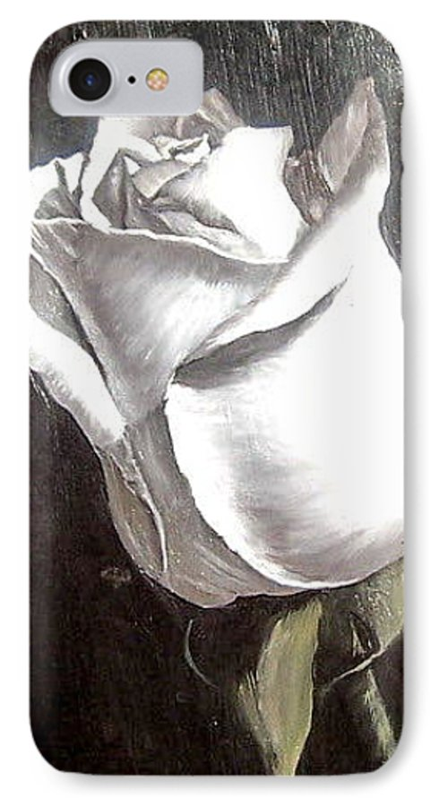 Flower Rose Still Life IPhone 7 Case featuring the painting Rose 2 by Natalia Tejera