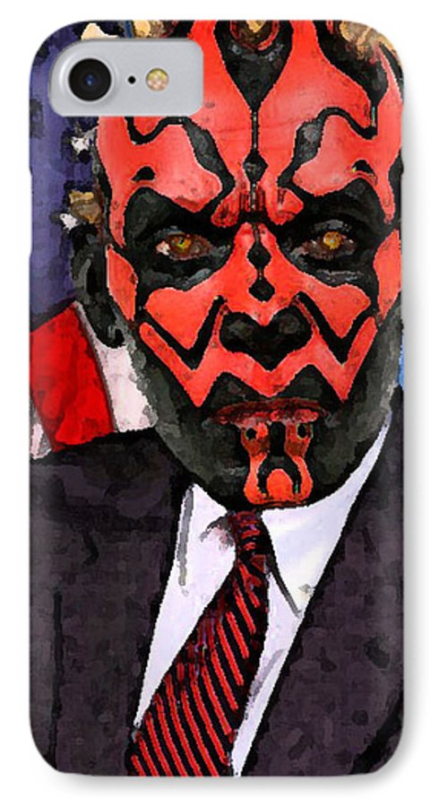 Star Wars IPhone 7 Case featuring the digital art Senator Darth Maul by Eric Forster