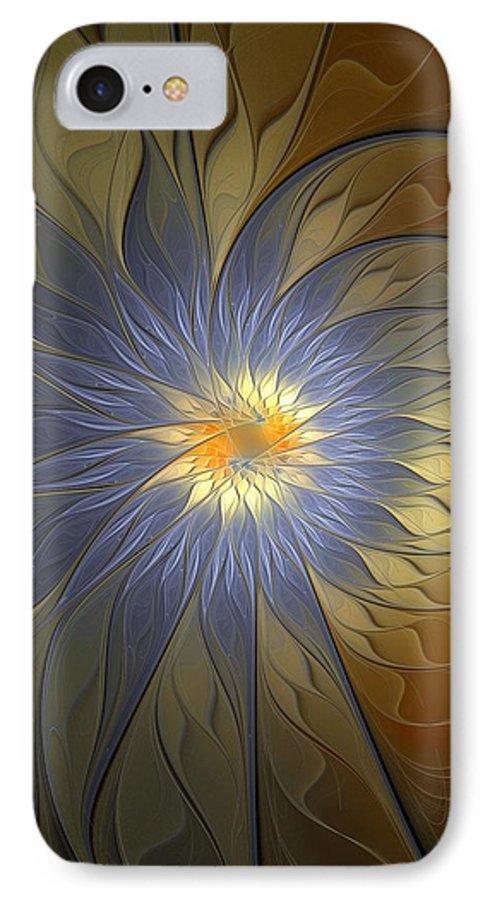 Digital Art IPhone 7 Case featuring the digital art Something Blue by Amanda Moore
