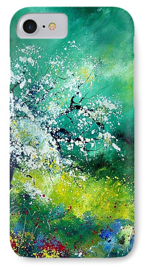 Flowers IPhone 7 Case featuring the painting Spring by Pol Ledent