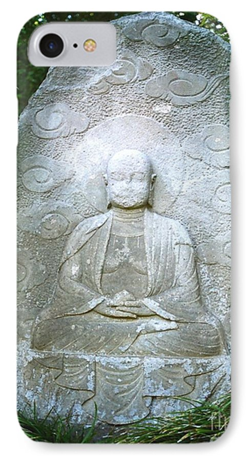 Stone IPhone 7 Case featuring the photograph Stone Buddha by Dean Triolo