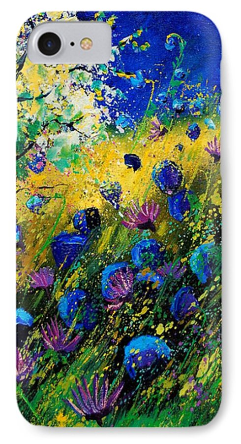 Poppies IPhone 7 Case featuring the painting Summer 450208 by Pol Ledent