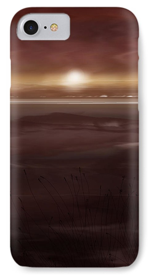 Seascape IPhone 7 Case featuring the painting Tide Flats At Dusk by Anne Norskog