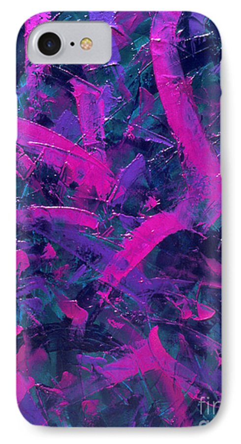 Abstract IPhone 7 Case featuring the painting Untitled by Dean Triolo