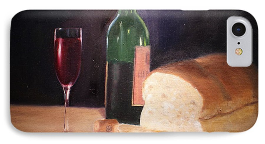 Wine IPhone 7 Case featuring the painting Untitled by Toni Berry