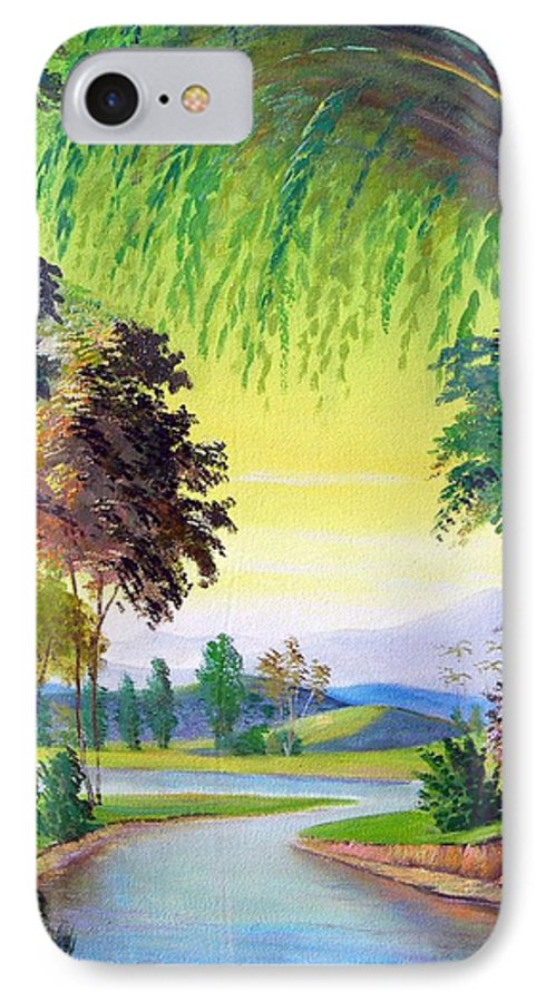 Landscape IPhone 7 Case featuring the painting Verde Que Te Quero Verde by Leomariano artist BRASIL