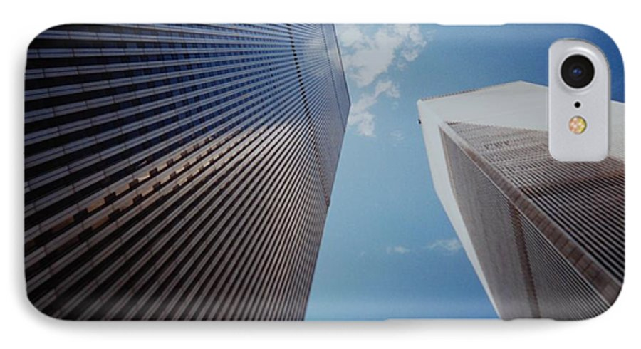 Wtc IPhone 7 Case featuring the photograph W T C 1 And 2 by Rob Hans