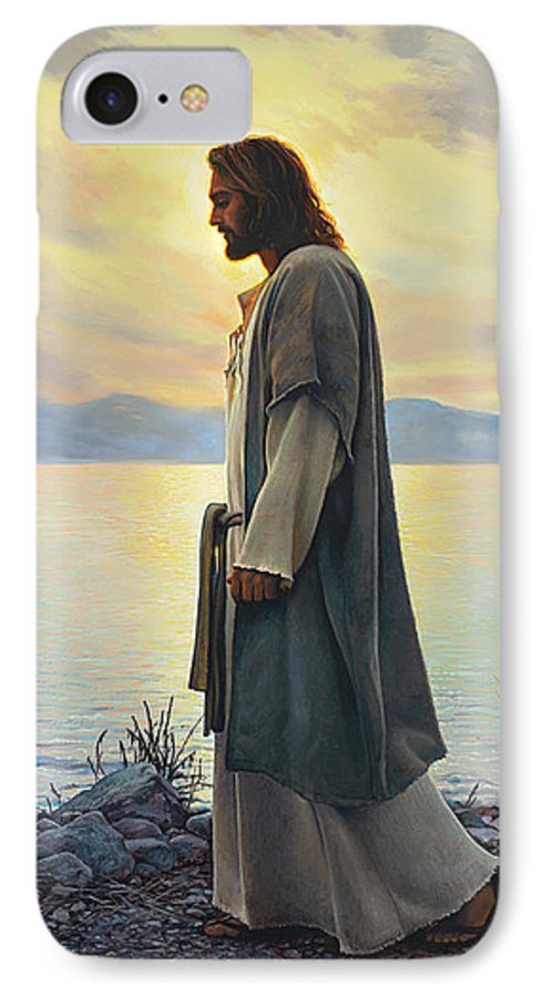 Jesus IPhone 7 Case featuring the painting Walk With Me 1 by Greg Olsen