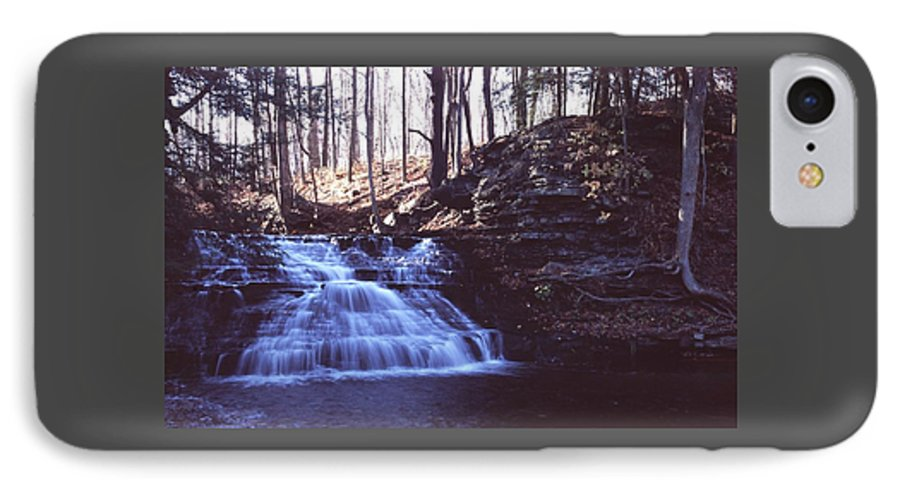Waterfall IPhone 7 Case featuring the photograph 111401-4 by Mike Davis