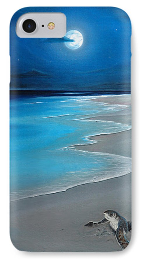 Seascape Art IPhone 7 Case featuring the painting First Born by Angel Ortiz