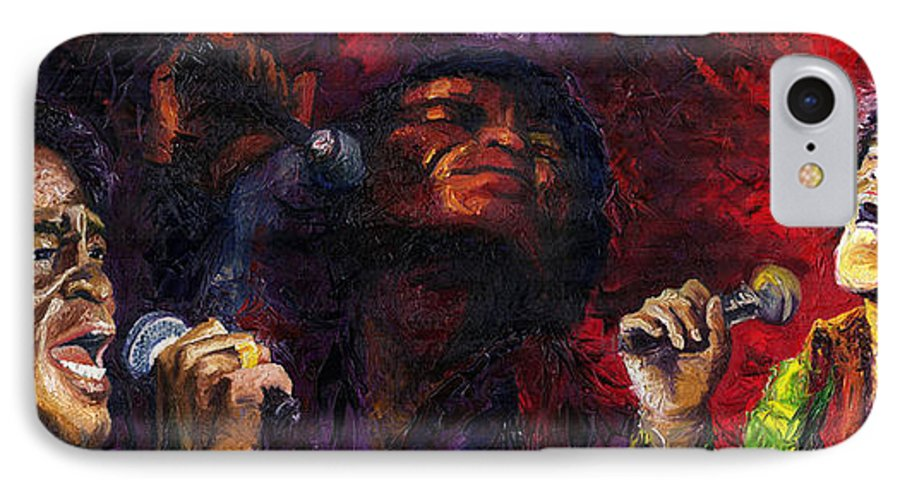 Jazz IPhone 7 Case featuring the painting Jazz James Brown by Yuriy Shevchuk