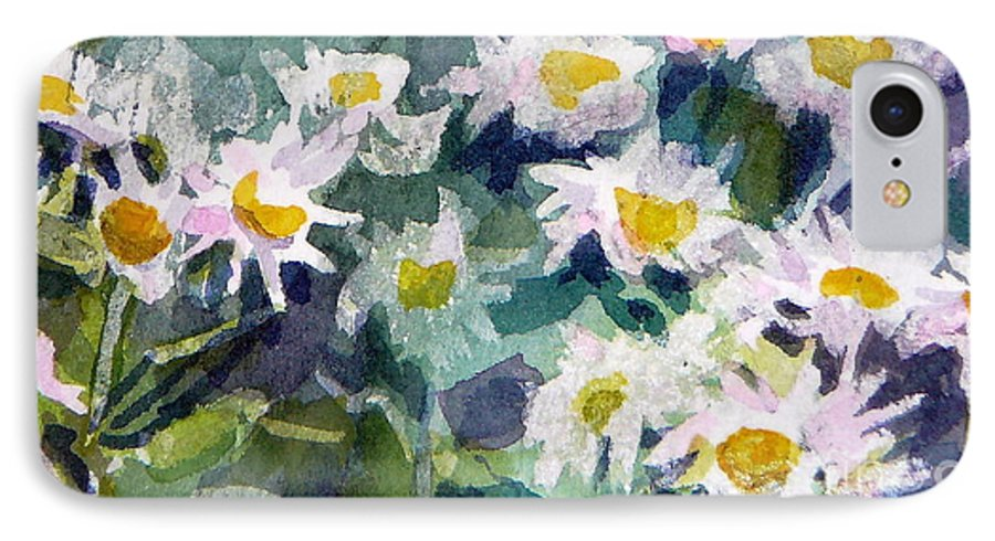 Flowers IPhone 7 Case featuring the painting Little Asters by Jan Bennicoff