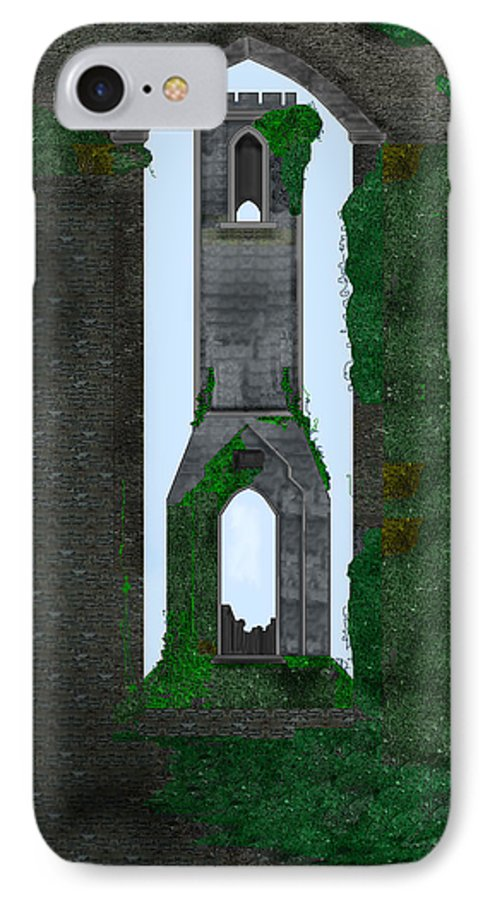 Ireland IPhone 7 Case featuring the painting Quint Arches In Ireland by Anne Norskog