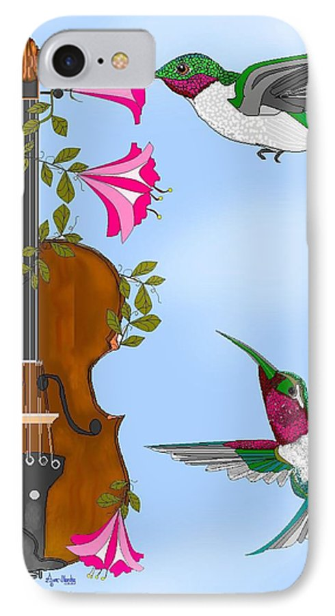 Fantasy IPhone 7 Case featuring the painting Singing The Song Of Life by Anne Norskog