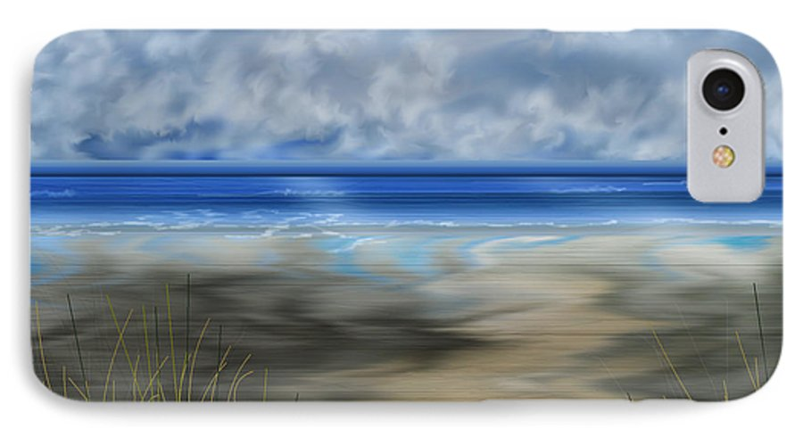 Anne Norskog IPhone 7 Case featuring the painting The Road Less Travelled by Anne Norskog