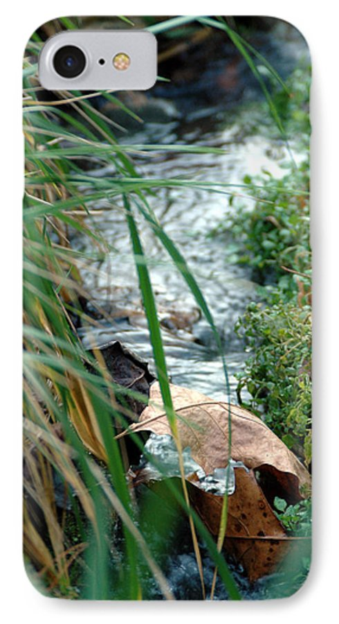 Stream IPhone 7 Case featuring the photograph Untitled by Kathy Schumann