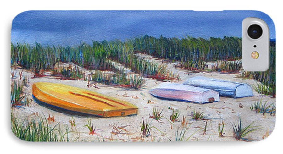 Cape Cod IPhone 7 Case featuring the painting 3 Boats by Paul Walsh