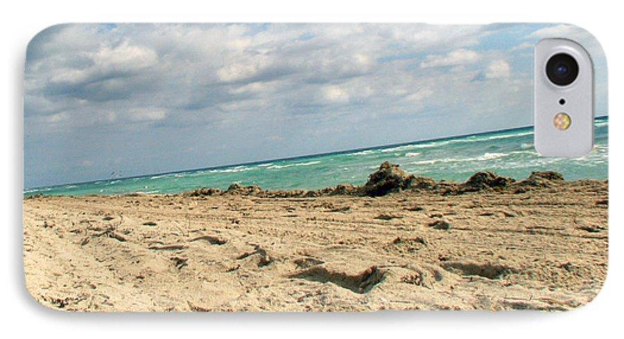 Miami IPhone 7 Case featuring the photograph Miami Beach by Amanda Barcon