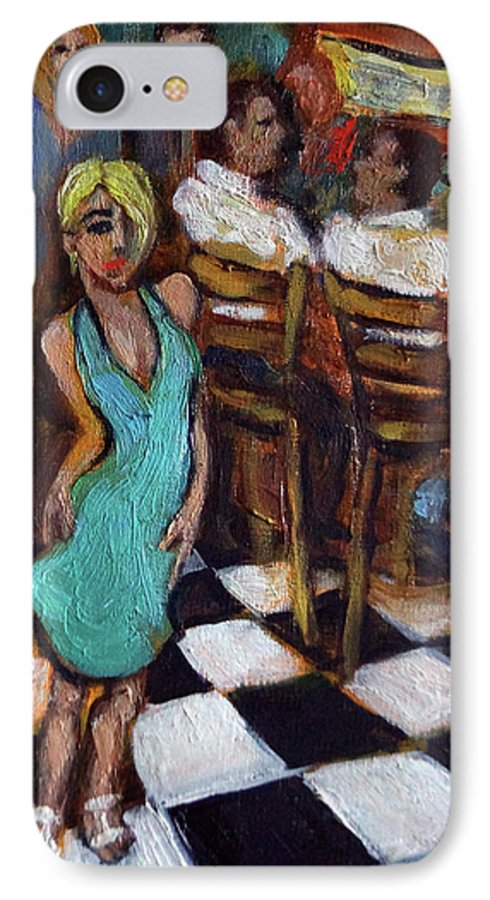 Restaurant IPhone 7 Case featuring the painting 32 East by Valerie Vescovi