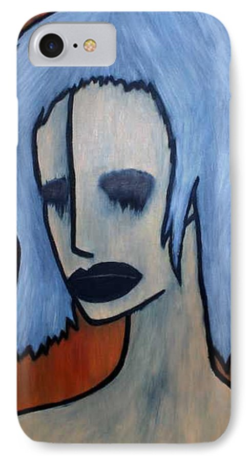Potrait IPhone 7 Case featuring the painting Halloween by Thomas Valentine