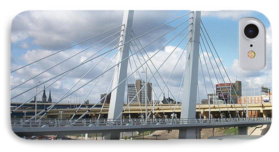Bridge IPhone 7 Case featuring the photograph 6th Street Bridge by Anita Burgermeister