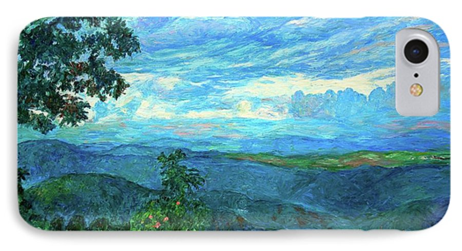 Mountains IPhone 7 Case featuring the painting A Break In The Clouds by Kendall Kessler
