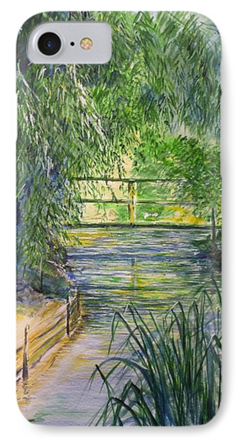 Giverny IPhone 7 Case featuring the painting A Day At Giverny by Lizzy Forrester