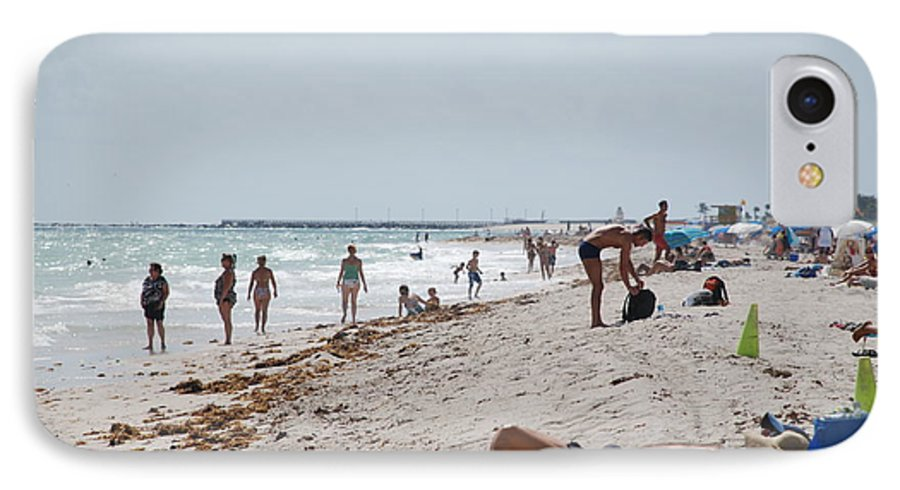 Nude IPhone 7 Case featuring the photograph A Day At Paradise Beach by Rob Hans