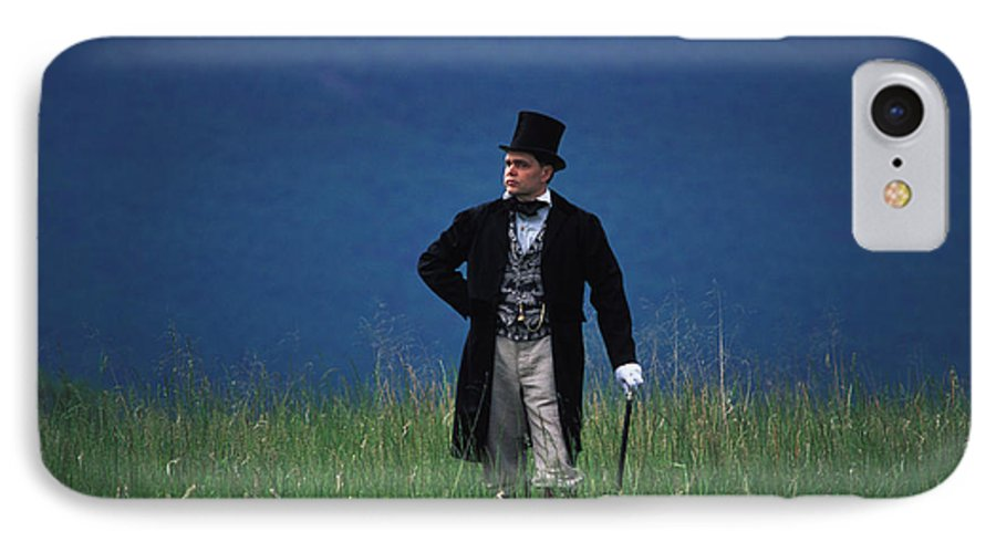 History IPhone 7 Case featuring the photograph A Man Outstanding In His Field by Carl Purcell