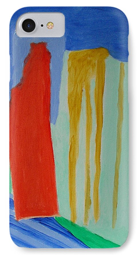 Spiritual IPhone 7 Case featuring the painting A New Beginning by Harris Gulko