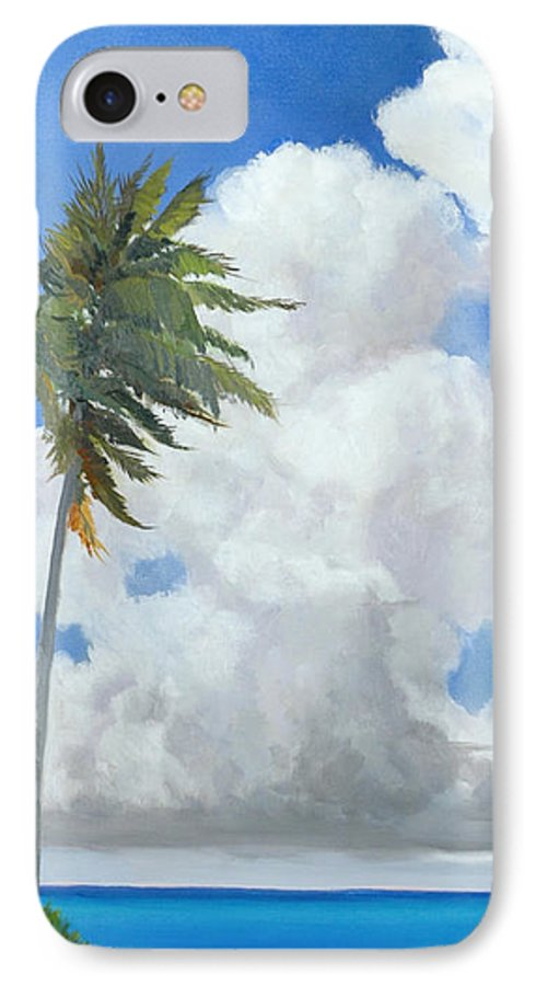 Landscape IPhone 7 Case featuring the painting A Perfect Day by Glenn Secrest