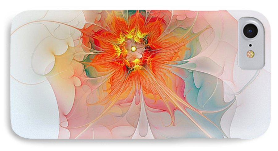 Digital Art IPhone 7 Case featuring the digital art A Touch Of Spring by Amanda Moore