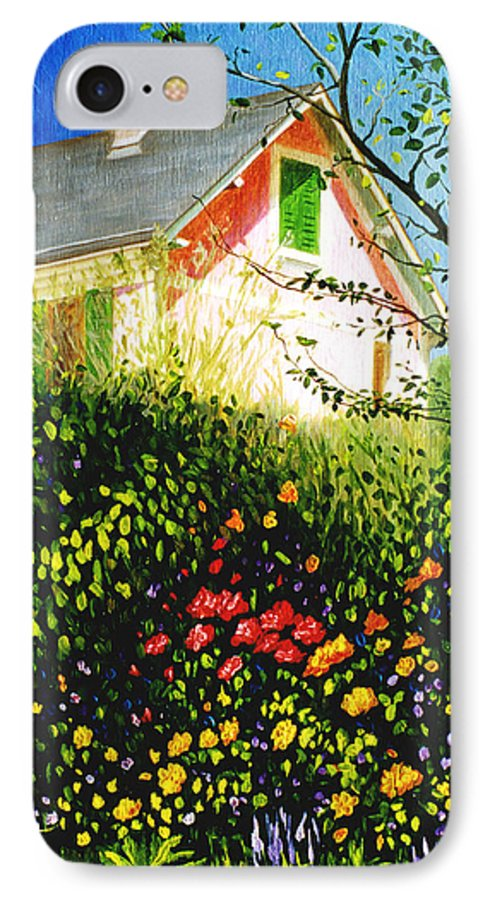 Monets House IPhone 7 Case featuring the painting A View Of Monets House In Giverny France by Gary Hernandez