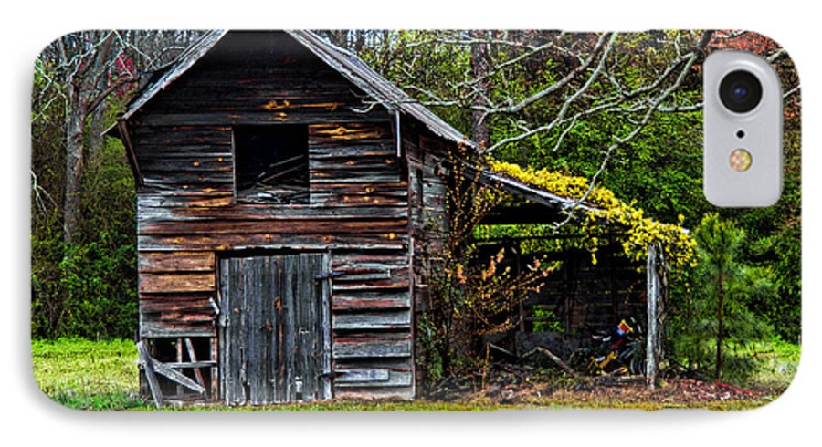 Barn IPhone 7 Case featuring the photograph A Yellow Cover by Christopher Holmes