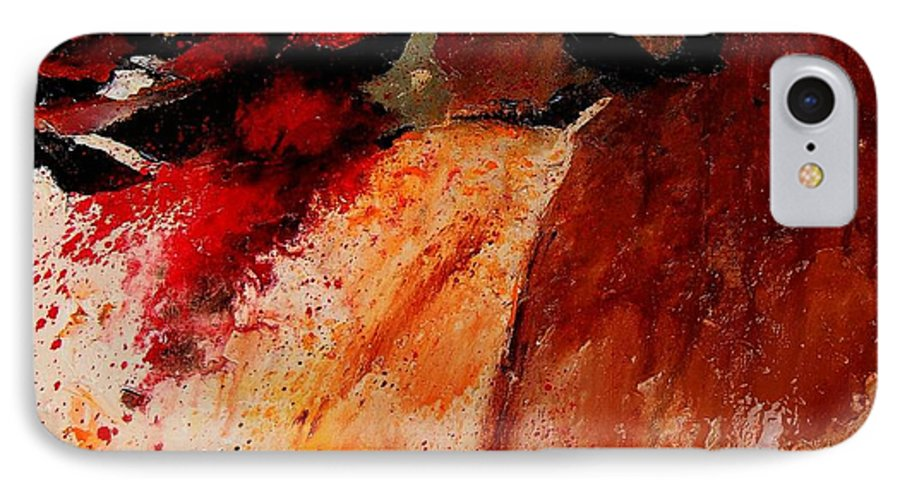Abstract IPhone 7 Case featuring the painting Abstract 010607 by Pol Ledent